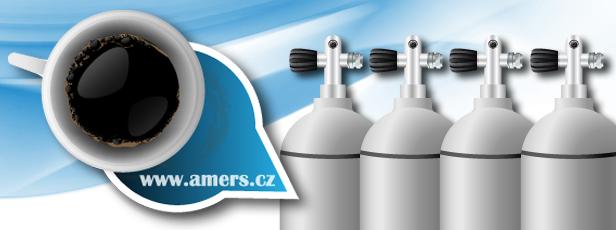 Centrum potápění Amers - plnění tlakových lahví kvalitním kompresorem