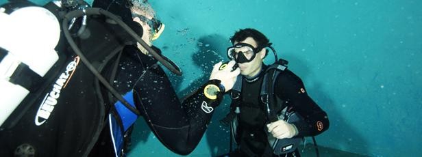 Centrum potápění Amers - ponor na zkoušku
